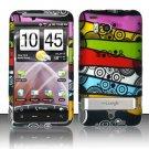 Hard Plastic Rubber Feel Design Case For HTC Thunderbolt 4G (Verizon) - Abstract Art