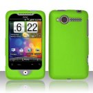 Hard Plastic Rubber Feel Cover Case for HTC Wildfire 6225 - Neon Green