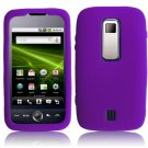 Textured Flexi Silicone Skin Cover Case for Huawei Ascend M860 - Purple