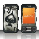 Hard Plastic Rubber Feel Design Case for Huawei M750 - Ace of Spade Skull