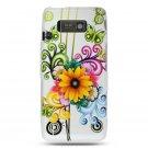 Hard Plastic Design Case For LG Fathom VS750 - White Flower Butterfly