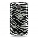 Hard Plastic Design Case for LG Optimus T (T-Mobile) – Silver and Black Zebra