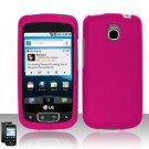 Hard Plastic Rubber Feel Cover Case for LG Optimus T (T-Mobile) - Pink