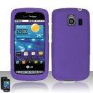 Hard Plastic Rubber Feel Case for LG Vortex VS660 - Purple