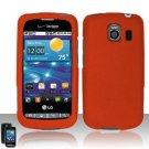 Hard Plastic Rubber Feel Case for LG Vortex VS660 - Orange