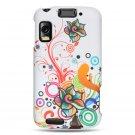 Hard Plastic Design Case for Motorola Atrix 4G MB860 - White Autumn Flowers