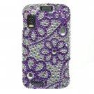Hard Plastic Bling Rhinestone Design Case for Motorola Atrix 4G MB860 - Purple Lace