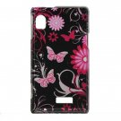 Hard Plastic Design Case for Motorola Droid 2 A955 - Pink Butterfly