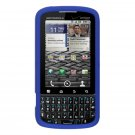 Soft Silicone Skin Cover Case for Motorola Droid Pro T610 - Blue