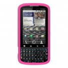 Soft Silicone Skin Cover Case for Motorola Droid Pro T610 - Pink