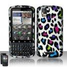 Hard Plastic Rubber Feel Design Case for Motorola Droid Pro T610 - Rainbow Leopard