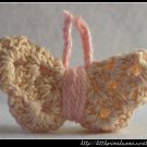 Crocheted butterfly - light pink