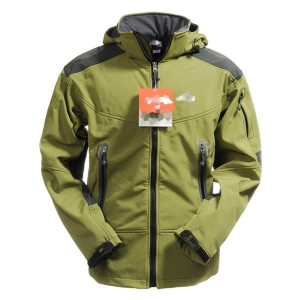 Soft Shell Men's Windstopper Jacket Hiking Climbing Hooded