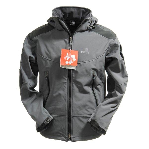 Soft Shell Men's Windstopper Jacket Hiking Climbing Hooded