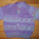 purple flower pattern cardigan