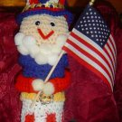 PATRIOTIC UNCLE SAM BOTTLE COVER crochet **free towel