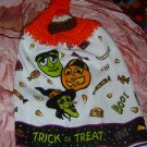 BUTTONLESS TRICK OR TREAT Halloween crochet top towel