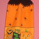 PUMPKIN TRICK OR TREAT Halloween CROCHET top towel