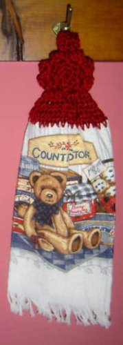 BUTTONLESS COUNTRY BEAR crochet top towel