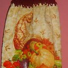 BUTTONLESS crochet Fall CORNUCOPIA towel