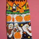 GHOST PUMPKIN CROCHET TOPPED KITCHEN TOWEL