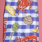LOBSTER crochet top kitchen towel
