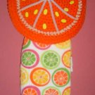 ORANGE SLICE TOWEL HOLDER crochet