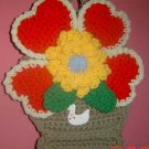 BASKET of HEARTS CROCHET hanging