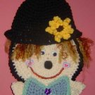 SCARECROW HEAD potholder wallhanging