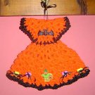 HALLOWEEN DRESS Crochet Kitchen Potholder pot holder