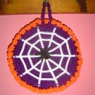 HALLOWEEN ROUND SPIDER WEB POTHOLDER WALLHANGING