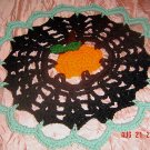 PUMPKIN IN THE MIDDLE crochet yarn doily