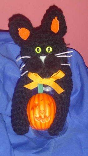 BLACK KITTY CAT jar topper