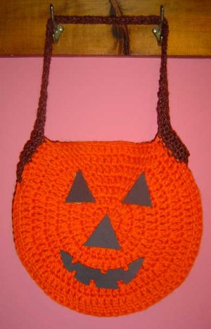 PUMPKIN TRICK OR TREAT BAG crochet