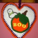 HALLOWEEN HEART PUMPKIN POTHOLDER/WALLHANGING