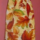 FALL/AUTUMN LEAVES ACORNS crochet TOP TOWEL