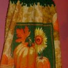 FALL/AUTUMN pumpkin/sunflower crochet TOP TOWEL