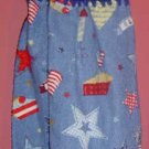 PATRIOTIC STARS AND FLAGS crochet top towel