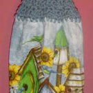 sunflower and BIRDHOUSE kitchen towel