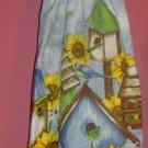 sunflower and BIRDHOUSE kitchen towel