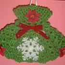 CHRISTMAS POINSETTIA DRESS POTHOLDER