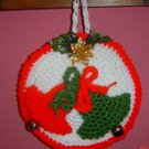 ROUND CROCHET POTHOLDER TWIN BELLS