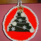 ROUND RED POTHOLDER CHRISTMAS TREE