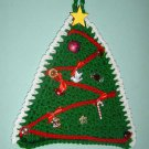 CHRISTMAS TREE crochet Potholder