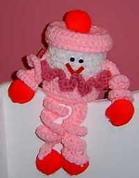 crochet VALENTINE CLOWN