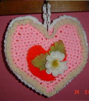 REVERSIBLE HEART POTHOLDER