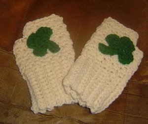 FINGERLESS IRISH GLOVES for ST. PAT'S