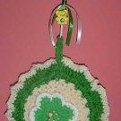crochet ST PATRICK SHAMROCK POTHOLDER