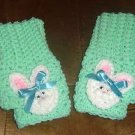 crochet EASTER FINGERLESS GLOVES