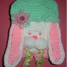 EASTER BUNNY HEAD Crochet Kitchen wallhanging